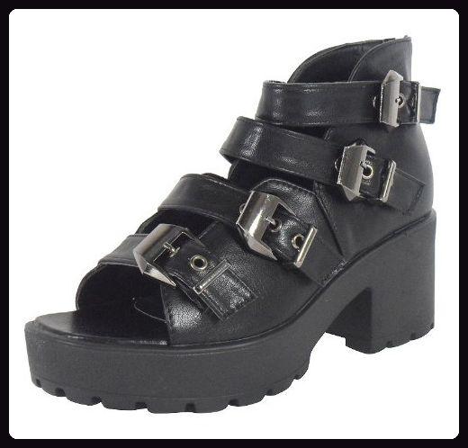 Loudlook Neuen Frauen Damen Chunky Schnallen Blockabsatz Schuhe Sandalen Gr??e 6 - Sandalen für frauen (*Partner-Link)