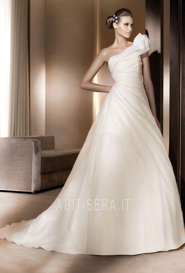 Abito da sposa Autunno Mezza Coperta Corpetto Pieghe Eleganti/lussi