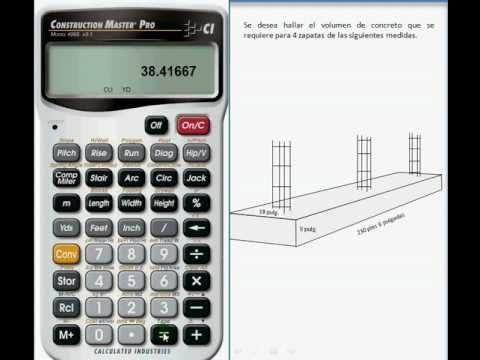 Calcular Cantidad de Concreto (Volumen) Necesario para Construcción con Zapatas - YouTube