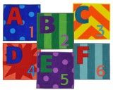"""Checkout the """"Letters & Numbers™ Classroom Carpet Squares, Set of 26"""" product"""