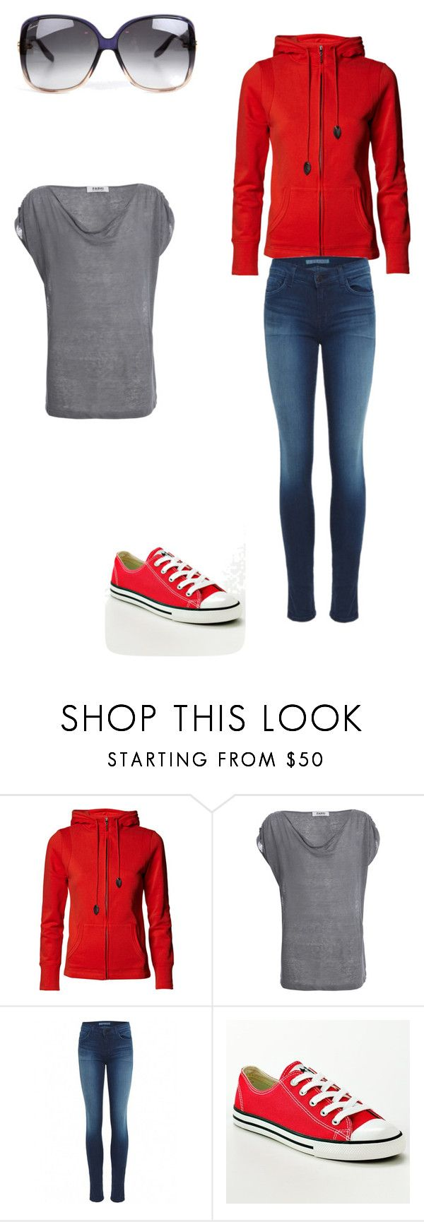 """""""50 Shades...Ana's closet...one casual set."""" by stacy-williams-white ❤ liked on Polyvore featuring Farhi by Nicole Farhi, J Brand, Converse and Gucci"""