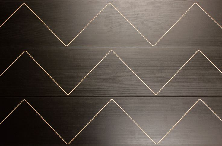 Siksak wood panels by Karell Design #interiorpanel #designpanels #woodpanels #karelldesign
