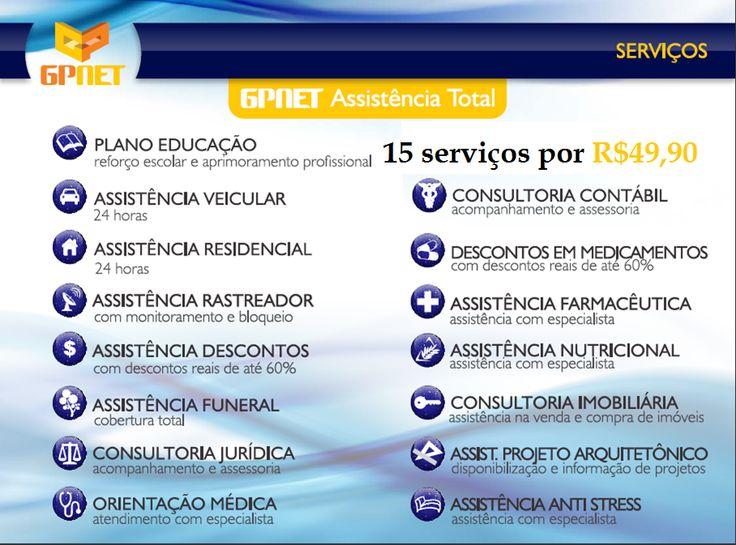 GPNET Assistncia Total. 15 servios por apenas R$ 49,90.http://www.locutorteixeirasantos.com/2014/03/a-empresa-click-dreams-tem-um-plano.html