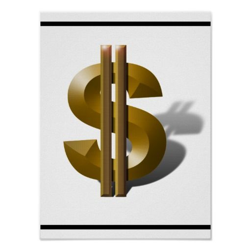 Gold Dollar Sign Money Poster by #gravityx9    #money -  #zazzle