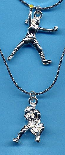 Love this softball necklace I want it I have a pitcher and a catcher in my family