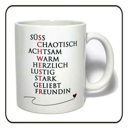 Kaffeetasse Spruch Schwester