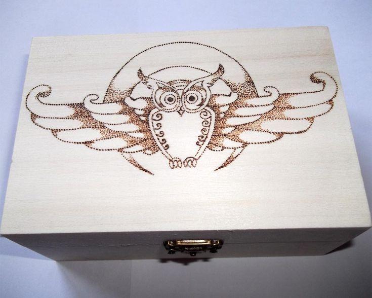 Gufo reale - pirografia su legno - cod#PL-B13