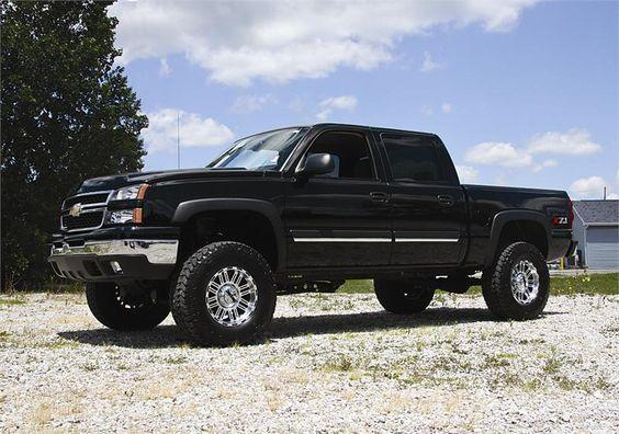"Chevy Silverado Lifted | 99-06 Chevy/GMC Silverado/Sierra 1500 4WD 6"" Lift Kit w/Nitro Shocks"