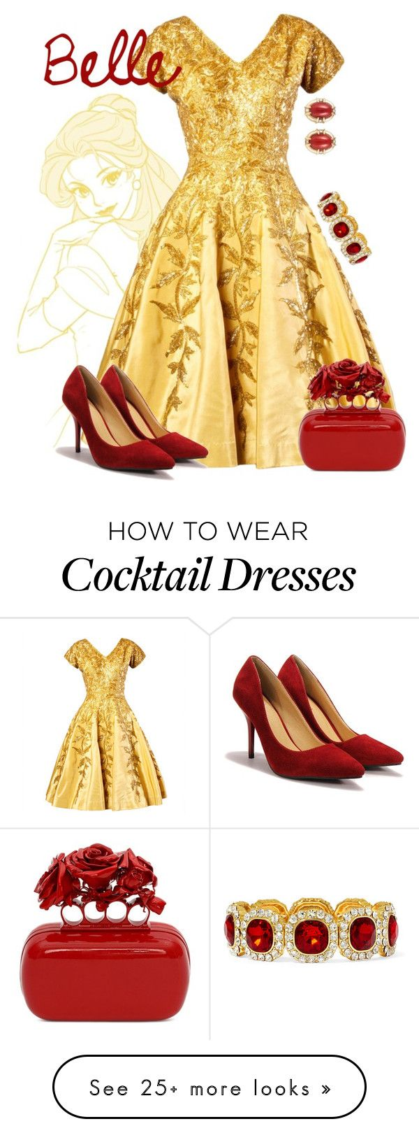 """""""Belle"""" by alyssa-eatinger on Polyvore featuring By Emily, Alexander McQueen, Gump's and Monet"""