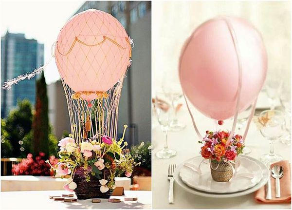 balão para centro de mesa