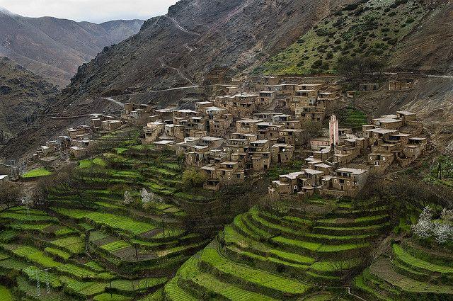 Berber village in Atlas Mountains of Morocco