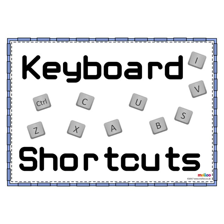 Teaching your class keyboard shortcuts has never been easier with these simple and eye catching resources. Covering 'select all', 'cut', 'copy' and more!