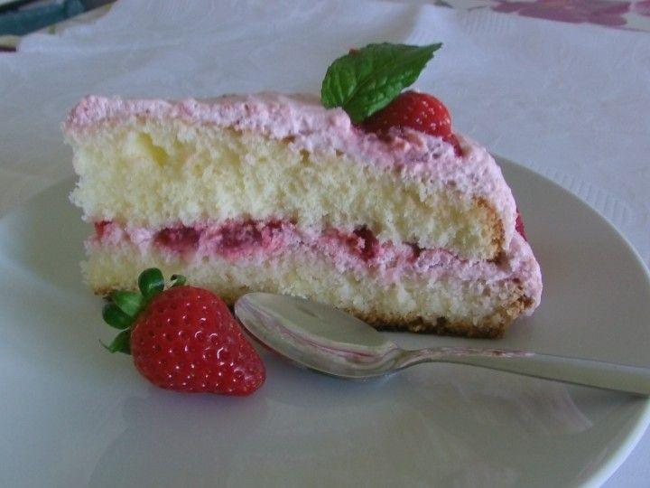 torta nuvola di fragole