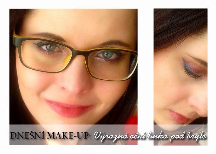 Gate to Neverland: Dnešní make-up: Výrazná oční linka pod brýle