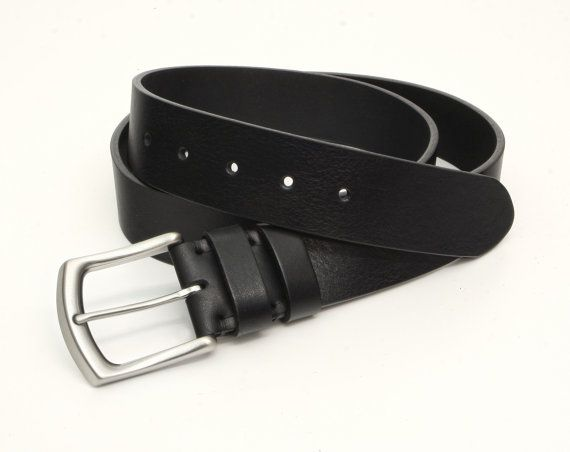 Black Leather Belt Mens Leather Belt Womens Leather by Odorizzi