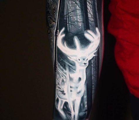 Patronus tattoo by Ben Ochoa