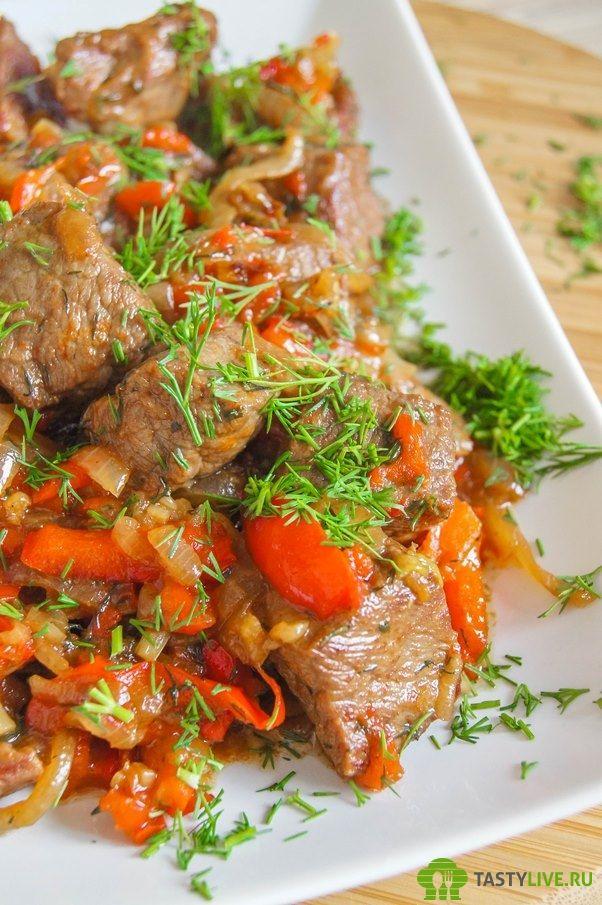 Говядина с болгарским перцем | beef with peppers