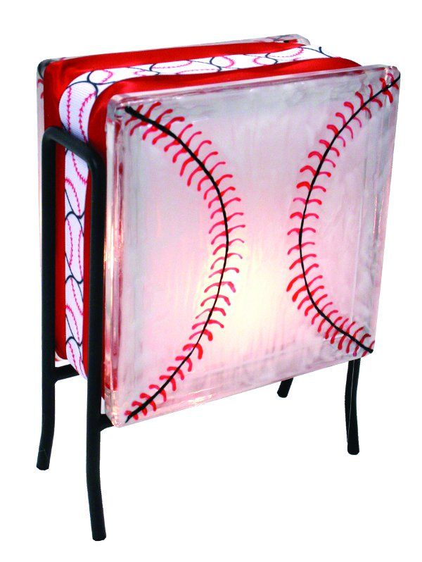 Craft Project Glass Block Lighting | Baseball Glass Block... mommy! U r the painter! Good presents for the boys for Christmas!!!
