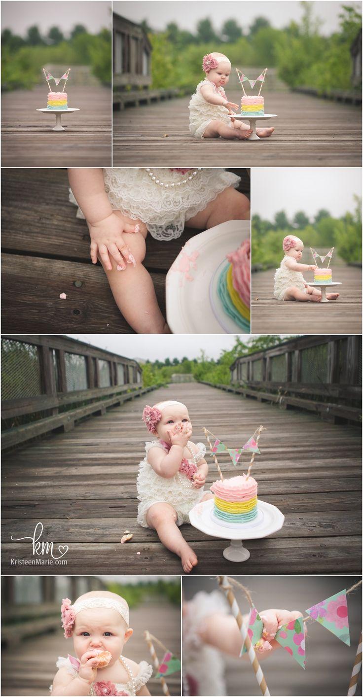 adorable cake smash set-up - first birthday photography                                                                                                                                                                                 More
