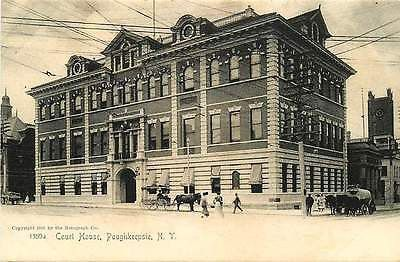Poughkeepsie New York 1905 Dutchess County Court House Antique Vintage Postcard