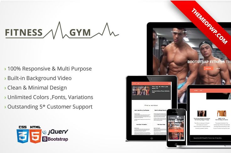 Fitness & Gym Bootstrap HTML by themeofwp on @creativemarket