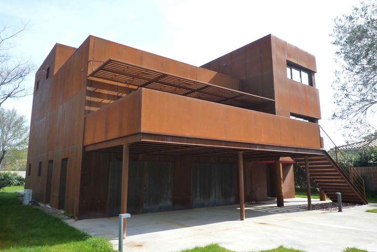 escalier extérieur acier corten - Recherche Google | architecture ...