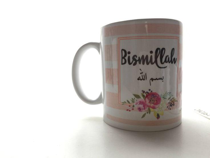 A personal favourite from my Etsy shop https://www.etsy.com/uk/listing/515015184/bismillahbismillah-mug-islamic-mugs