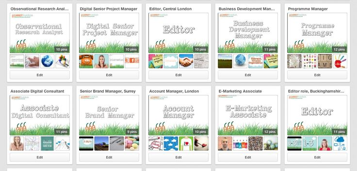 Here's just some of our pinterest board job ads :)