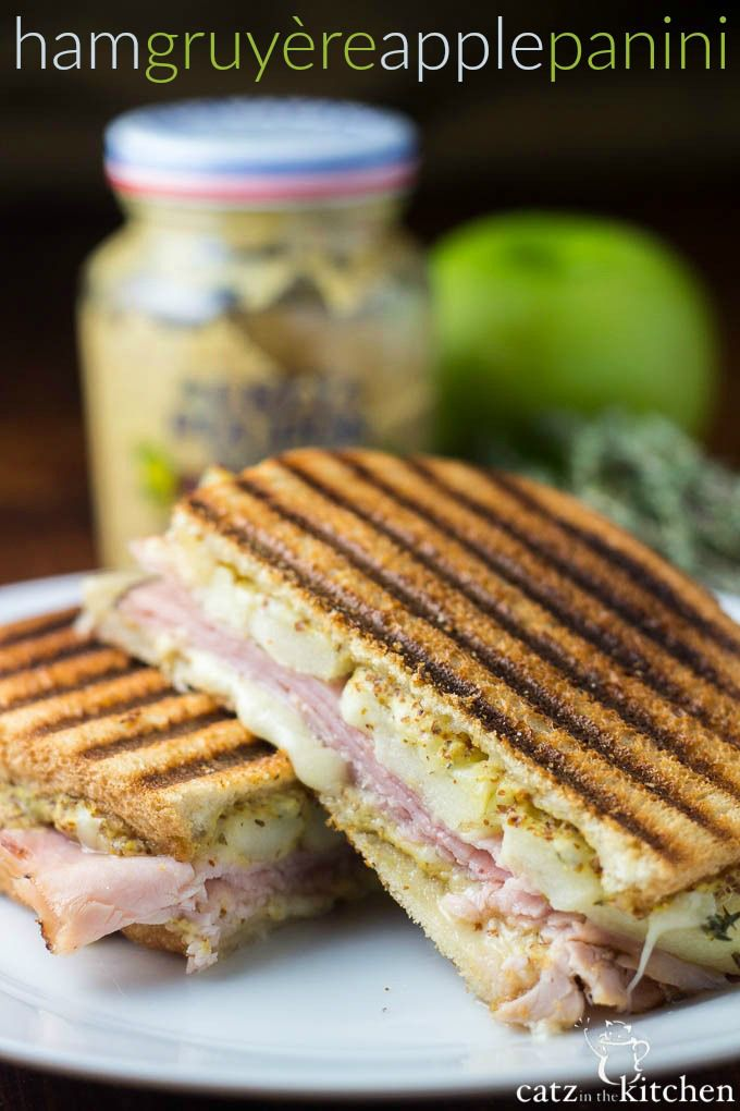 Ham, Gruyère, & Apple Panini | Catz in the Kitchen | catzinthekitchen ...