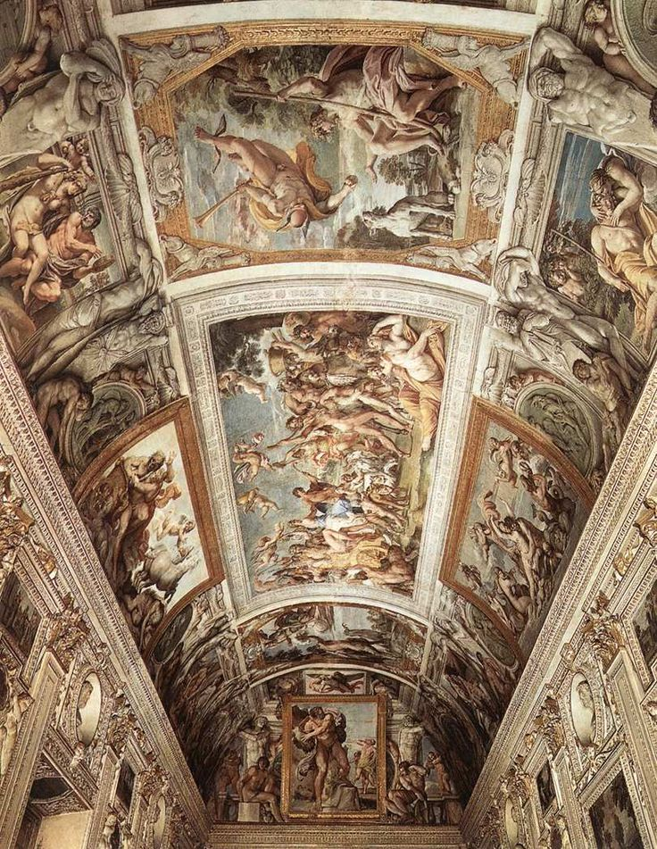 Palazzo Farnese, in Rome, Italy    ceiling fresco by Carracci (1597-1602)