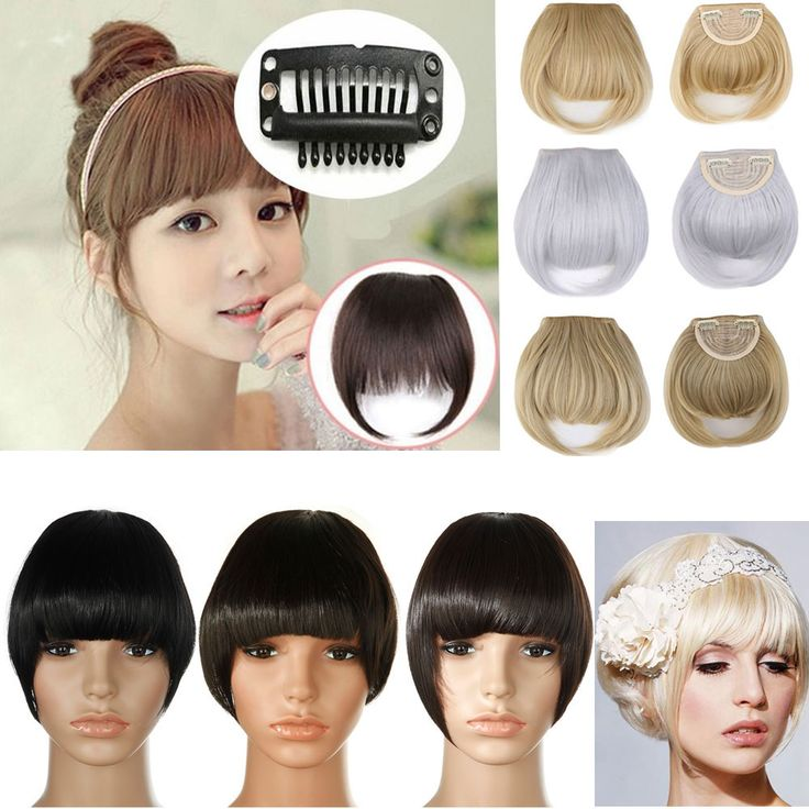 Real thick 30g Natural Bang False Hair Bangs black brown blonde auburn red Clip In on Bangs Synthetic Hair Fringe 11 Colors