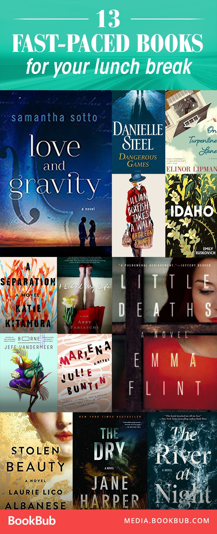 13 Fastpaced Books To Read On Your Lunch Break