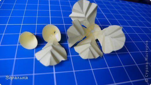 Мастер-класс Поделка изделие Бумагопластика Квиллинг Бархатцы маленькие объемные желтые Бумага Бумажные полосы Проволока фото 6