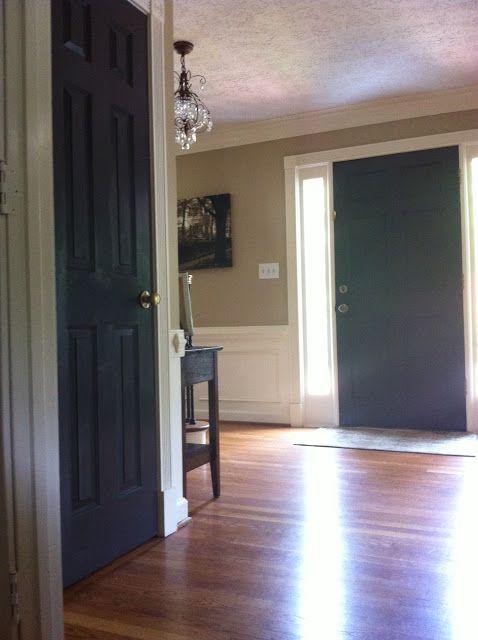 The Houston House Black Interior Doors Benjamin Moore