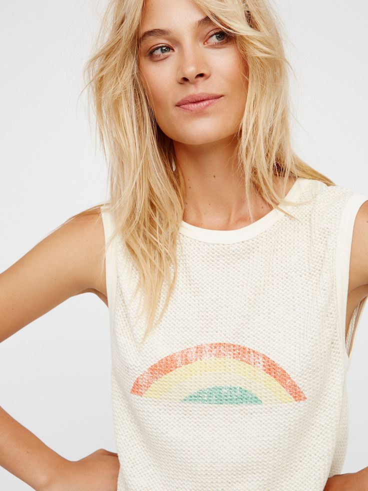 Red Rose Tank   This so soft and comfy tank features a waffle design and an easy rounded hem. Cute front graphic.