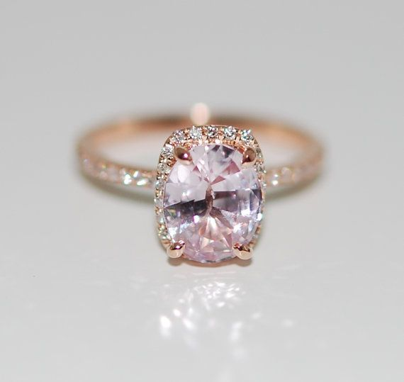 The 25 best peach champagne sapphire ideas on pinterest peach peach champagne sapphire engagement ring 14k rose by eidelprecious junglespirit Images