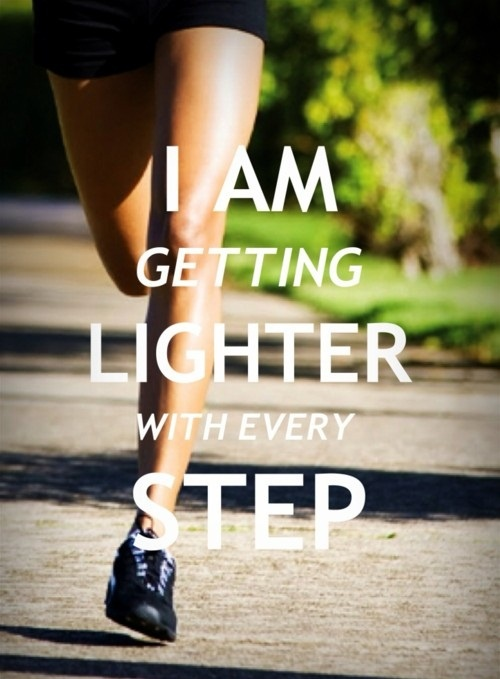 I Am Getting Lighter With Every Step... FREE Healthy Eating Guide... http://learntoloveyourbodyagain.com/ #fitness #weightloss