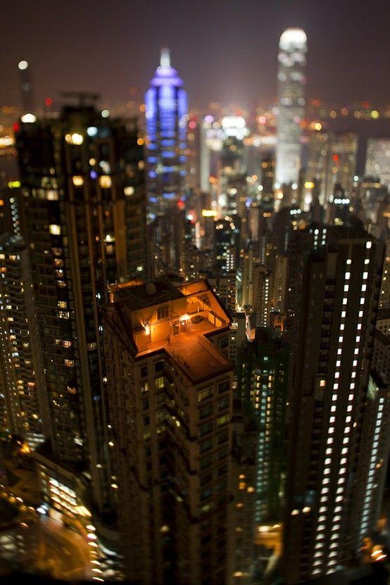 A house in the skyHong Kong, Tiny House, Nikolaus Gruenwald, Urban Photography, Cities Photography, Urban Living, Cities View, Cities Lights, Tilt Shift