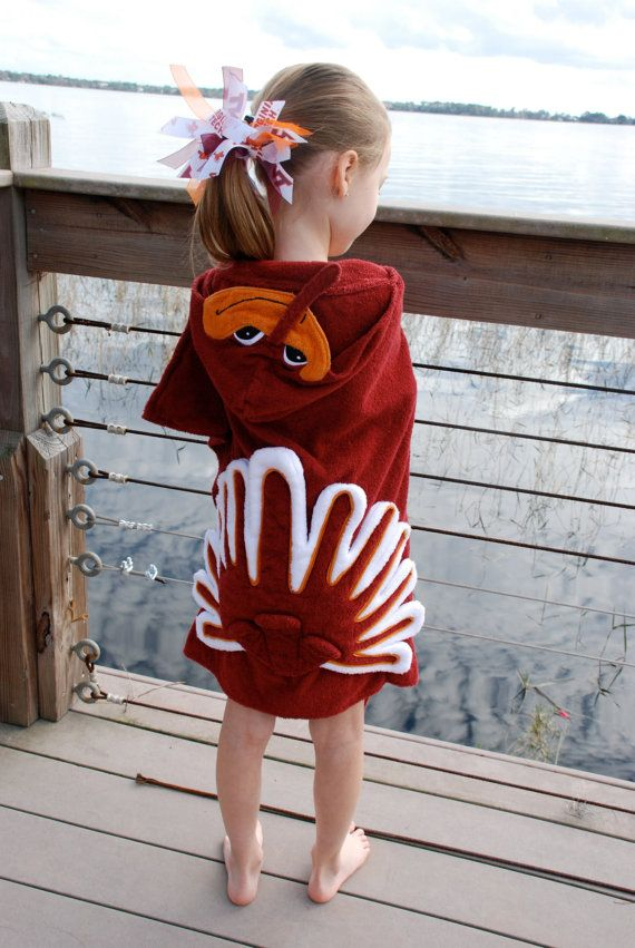 Virginia Tech Hokie Bird Hooded Towel by LittleSinks on Etsy, $34.99