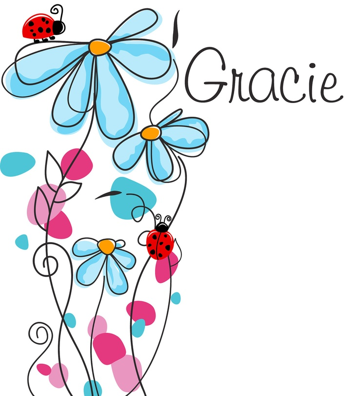 Childrens Wall Decal - Flowers & Ladybugs with Name Personalization - Large Vinyl Art Sticker - For Nursery or Kids Room or Girls - Modern. $105.00, via Etsy.