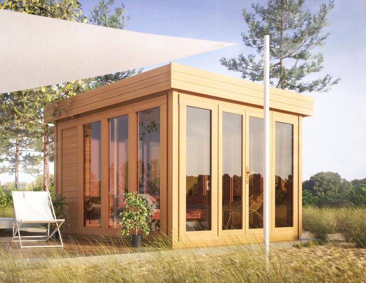 Cool Flachdach Gartenhaus Sonneninsel x Meter aus mm
