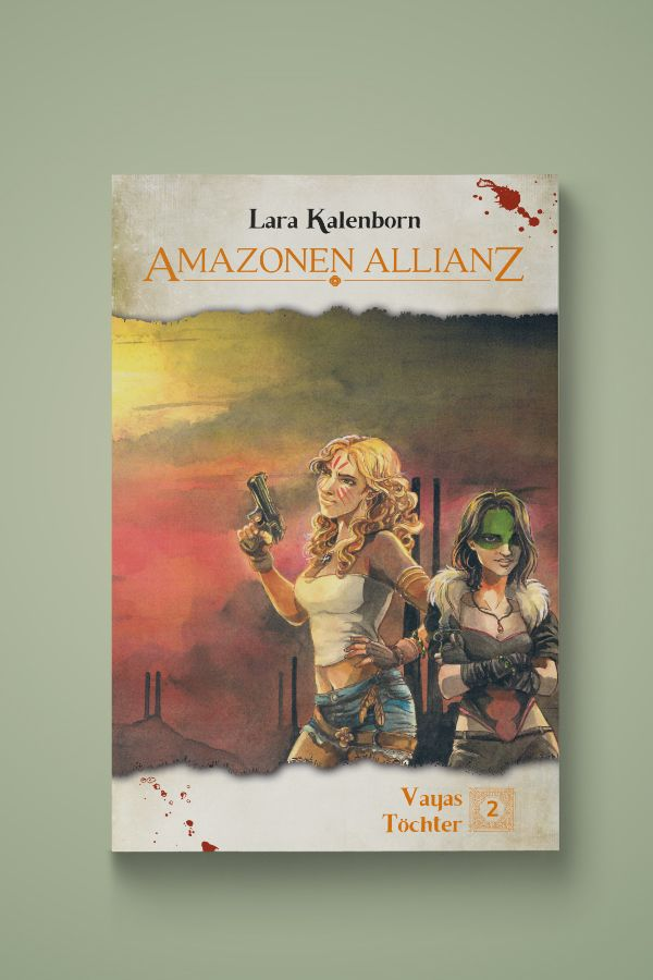 """Buchcover für den 2. Teil der Fantastik-Endzeit-Trilogie """"Vayas Töchter"""""""