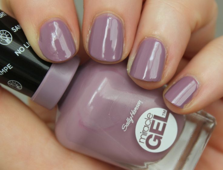 Sally Hansen Miracle Gel Street Flair - MANY will not believe this because I typically hate purple anything, but, I bought this color & am LOVING it.