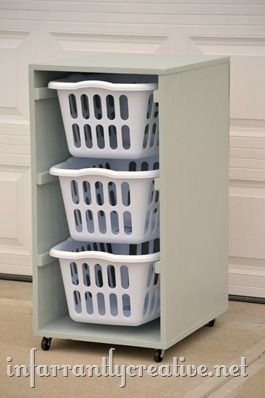 This is a practical, inexpensive laundry sorting system similar to what I have done for years. Includes a tutorial for turning the baskets lengthwise also if that better suits your space.