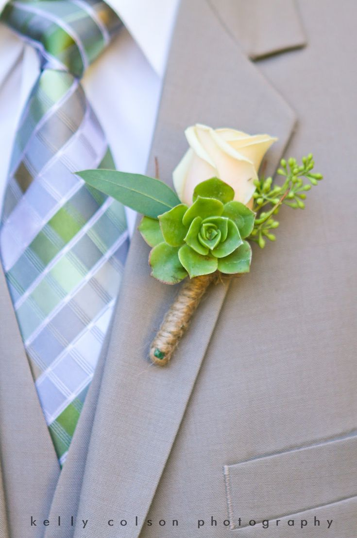 Kelly Colson Photography: Morgan & Mazen Love the natural elements in this boutonnière