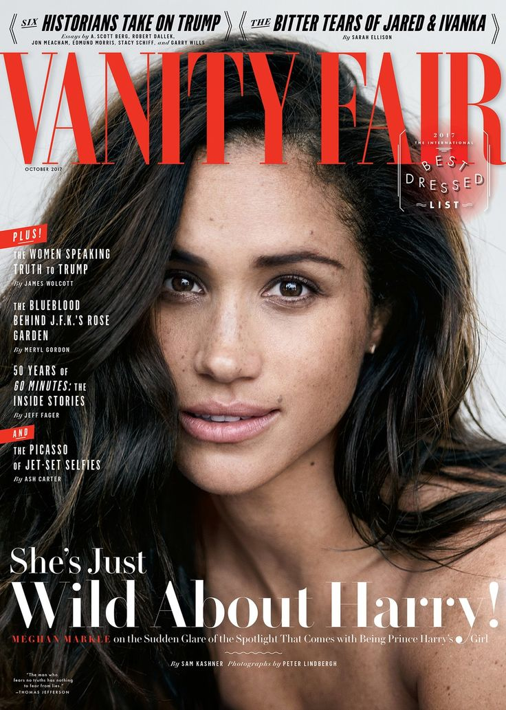 Meghan Markle, by Peter Lindbergh for Vanity Fair Cover