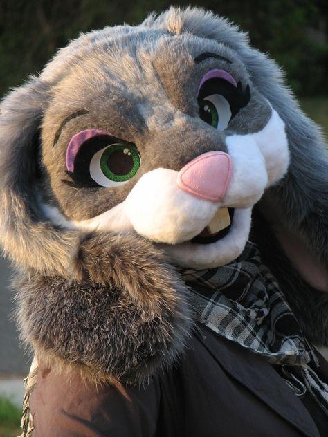 Fursuit head - Violet Rabbit
