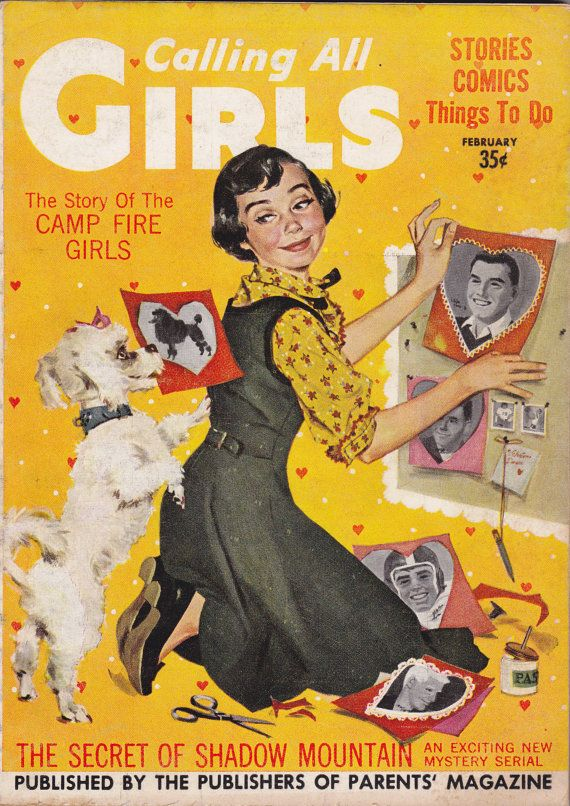 Story of Campfire Girls- 1950s Vintage Magazine- Calling All Girls- February 1957- Teen Magazine- Barbara Briggs- Paper Ephemera