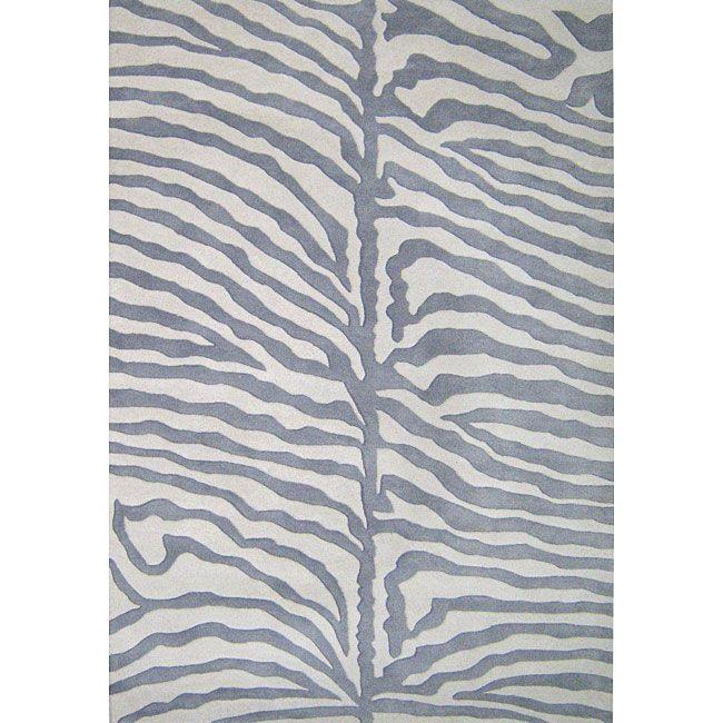 Alliyah Handmade Grey New Zealand Blend Wool Rug (8' X 10