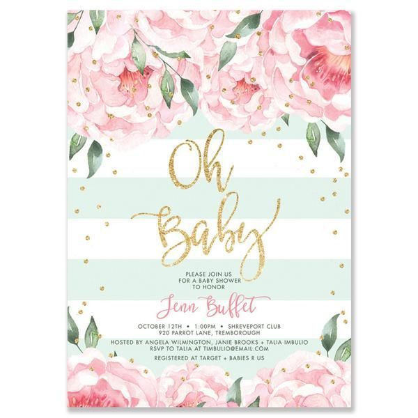 25+ best ideas about baby shower invitations on pinterest   baby, Baby shower invitations